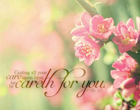 "He Careth for You I Peter 5:7 28"" x 22"" Print"