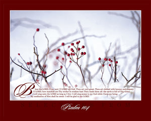 "Majestic Psalm 104 16"" x 20"" Winter Print"