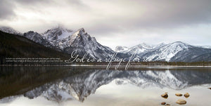 Psalm 62:7 - 8 Large Format Galley Wrap Canvas