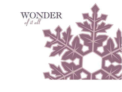 Snowflake Christmas Cards - Personalized