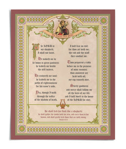 "The Lord is my Shepherd Psalm 23 16"" x 20"" Print"