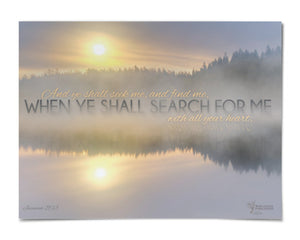 "Jeremiah 29:13 18"" x 24"" Canvas"