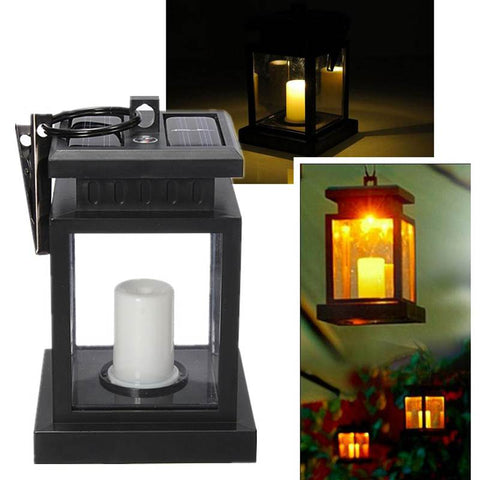 Solar Power Twinkle LED Candle Lantern
