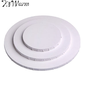 White Blank Round Canvas Board Wooden Frame Art Artist Acrylic Oil Painting Blank Canvas Crafts 40cm 30cm 20cm