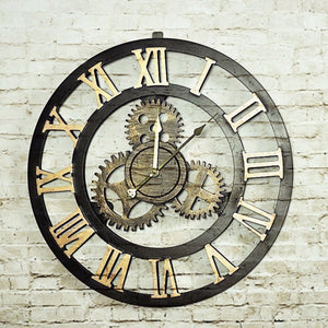 2 Tone Retro Oversize Decor Wall Clock