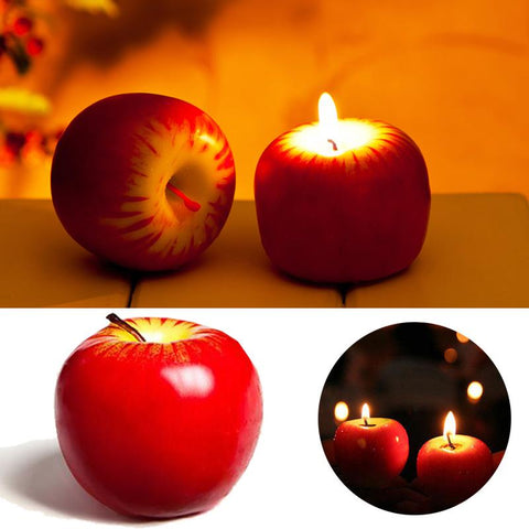 2Pcs/Lot Candle Red Apple Shape Scented  Candle