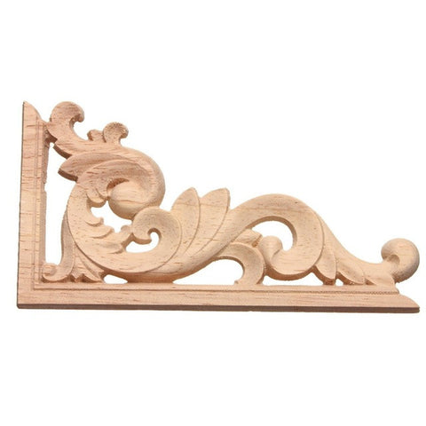 "1pc 6.5"" x 3.5"" Wood Carving Frame Applique"