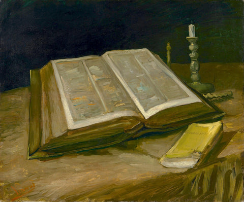 Unframed Canvas Prints - Still Life With Bible - By Vincent Van Gogh