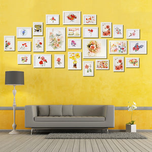 26 White Scatter Frame Picture Wall