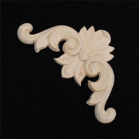 Vintage 8x8cm Wood Carved Corner  Applique