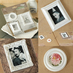 3pcs White Resin Picture Frames  DIY