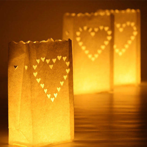 30 Pcs Tea Light Holder Luminous Paper Lantern Candle Bag