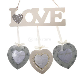 Love Triple Photo Frame Shabby Chic Wedding Decor Favors