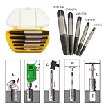 5pcs/set Screw Extractors Damaged Broken Screws Removal Tool Used in Removing the Damaged Bolts Drill Bits
