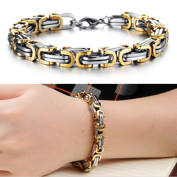 Classic Design Punk 316L Stainless Steel Bracelet Special Biker Bicycle Motorcycle For Mens Bracelets & Bangles