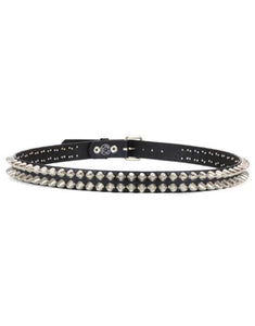 Double Spike Studded Belt