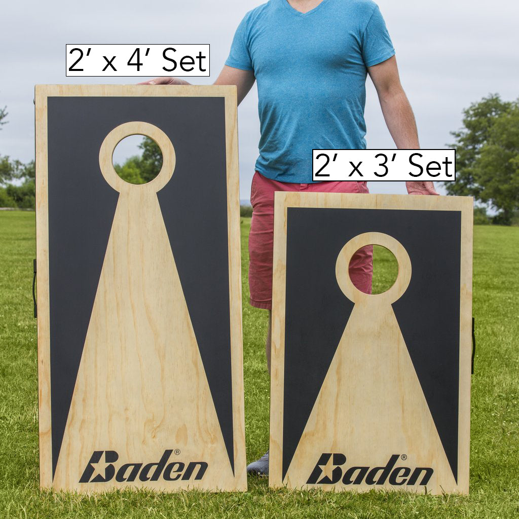 Choose between the ultra-portable Shorty 2'x3' board set and the regulation sized 2'x4' board set