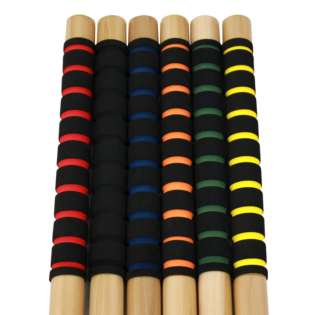 6 hardwood mallets with soft grip handles