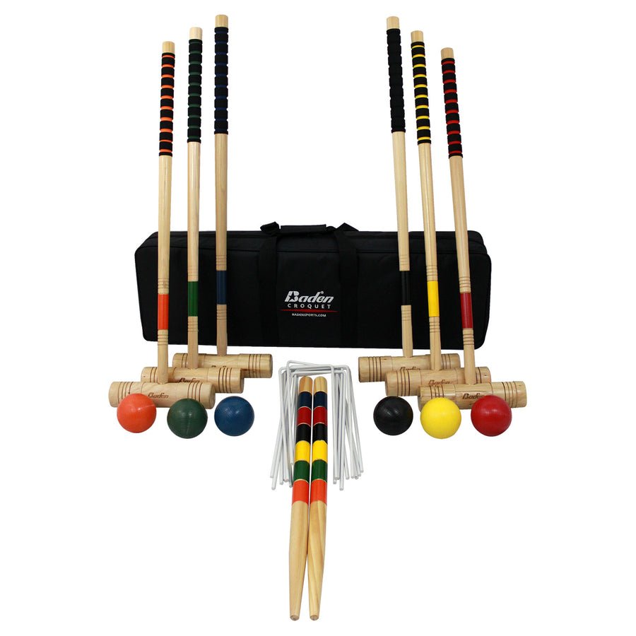 Playing with the Baden Champions Croquet Set