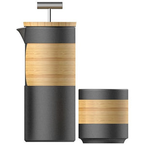Bamboo Wood French Press & Cup