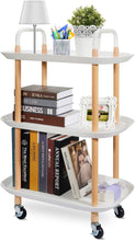 Load image into Gallery viewer, 3 Tier Rolling Serving Trolley