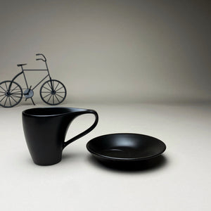 Black Minimalist Turkish Coffee Espresso Cup