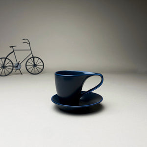 Blue Minimalist Turkish Coffee Espresso Cup