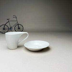 White Minimalist Turkish Coffee Espresso Cup