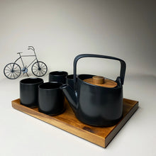 Load image into Gallery viewer, Elegant Black Teapot Set