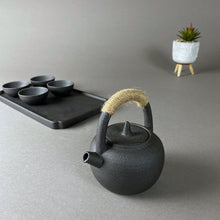 Load image into Gallery viewer, Mini Black Ancient Japanese Tea Pot and Cups