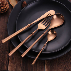 Portuguese Rose Gold Matte Cutlery Set