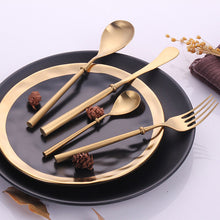 Load image into Gallery viewer, Portuguese Gold Matte Cutlery Set