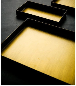 Golden Matte Trays Set of Three