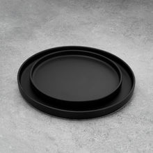 Load image into Gallery viewer, Simple Black Matte Plates Set of Two