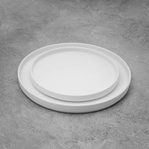 Simple White Matte Plates Set of Two