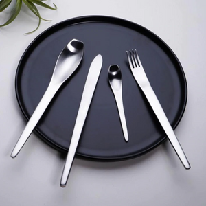 Japanese Style Silver Matte Cutlery Set