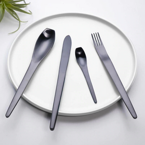 Japanese Style Black Matte Cutlery Set