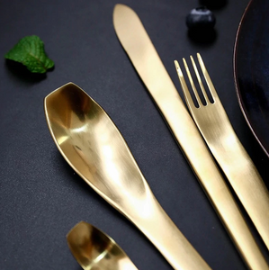 Japanese Style Gold Matte Cutlery Set