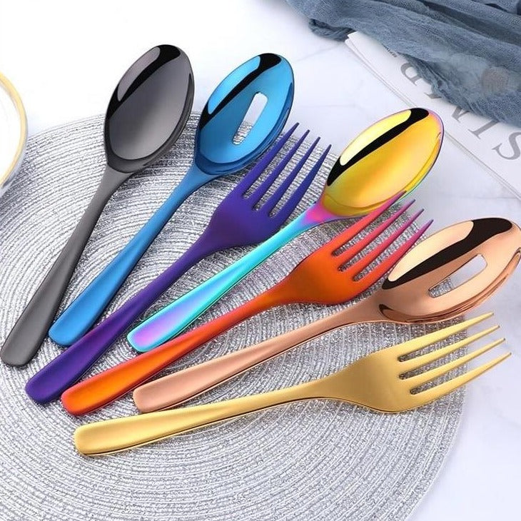 Large Serving Spoons & Fork