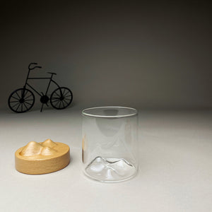 Glass with Light Wooden Stand