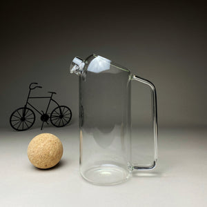 Glass Jug with Ball Cork Lid