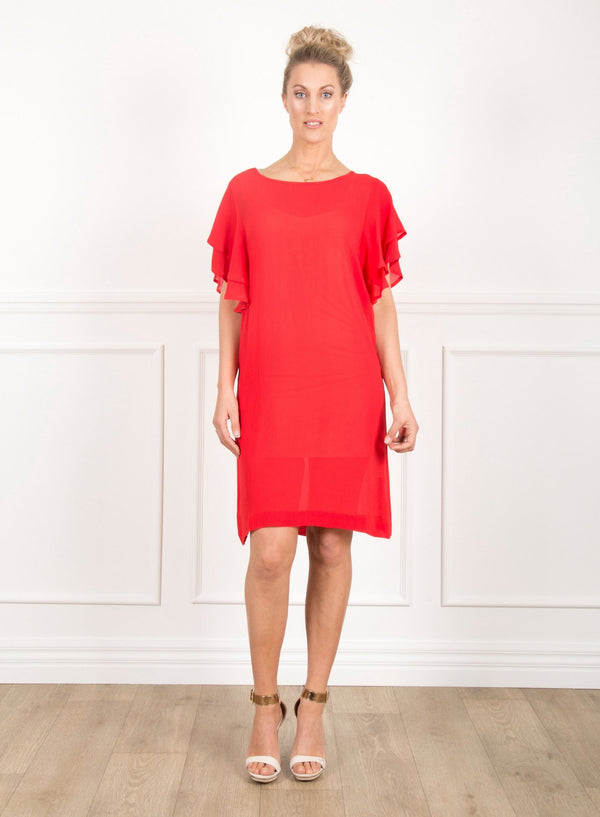 PW Sisters Ruffle Sleeve Dress