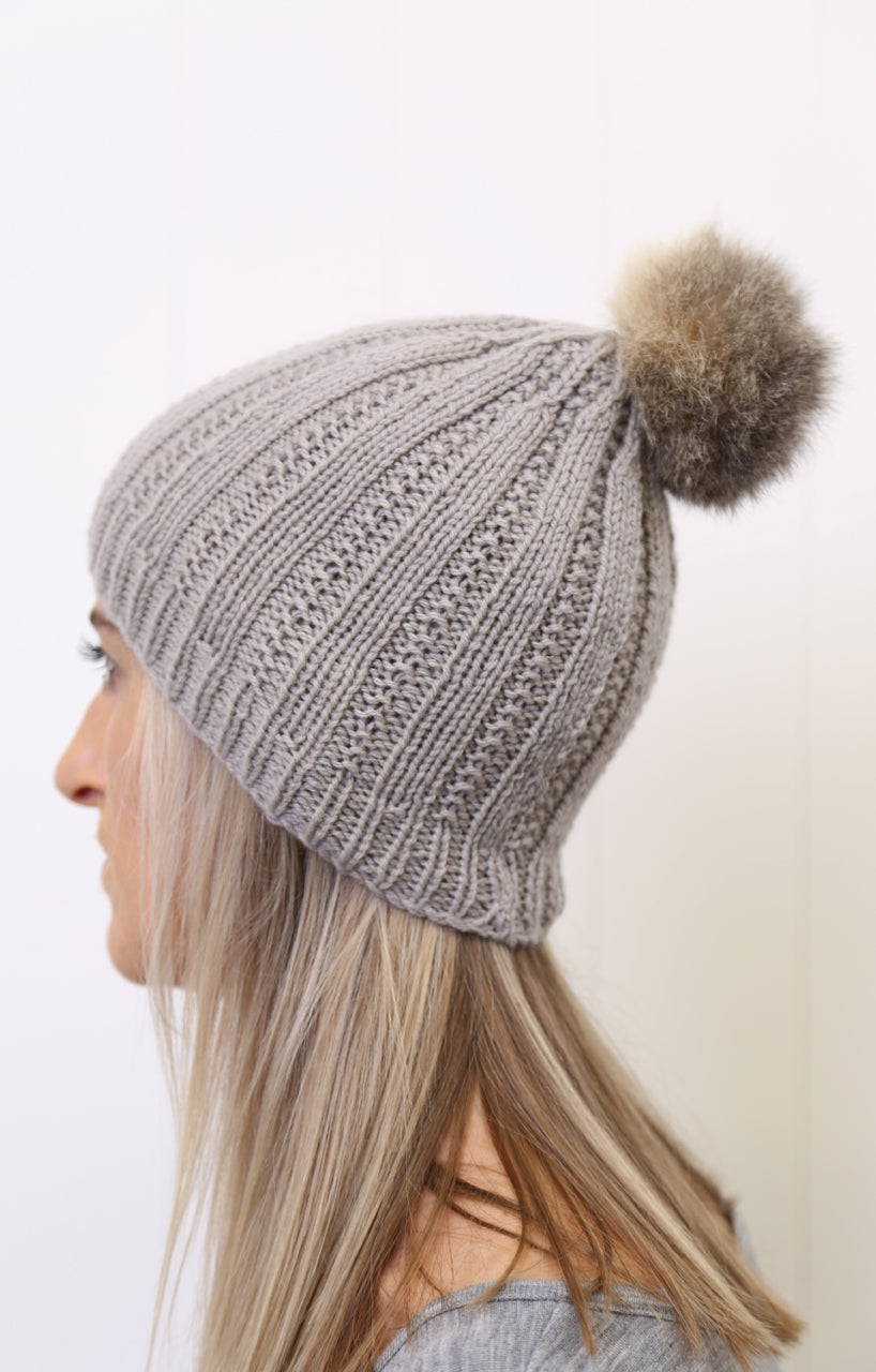 Possum Pom Pom Hat Knitting Kit
