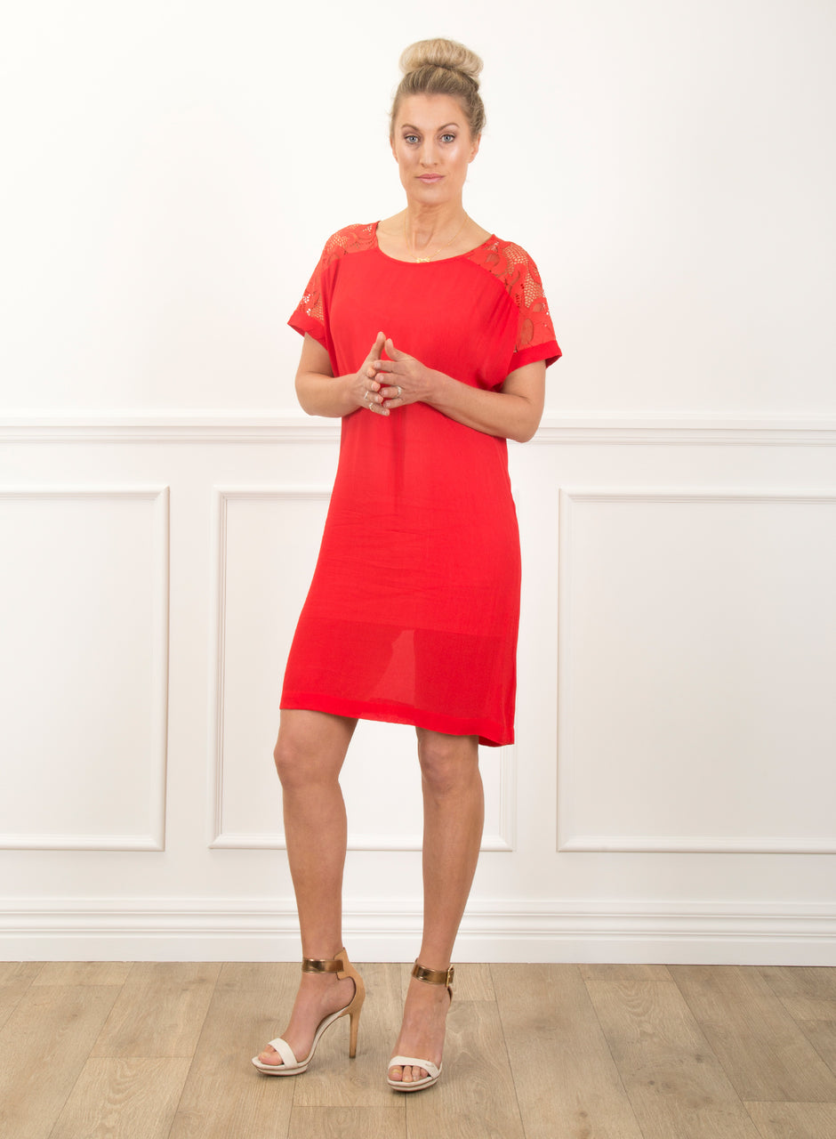 Olivia Dress - Salsa Red