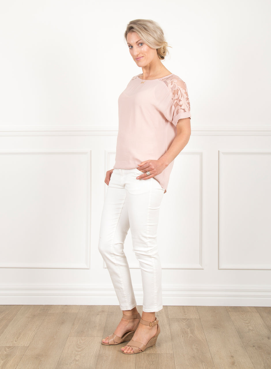 Olivia Lace Top -  Sherbet