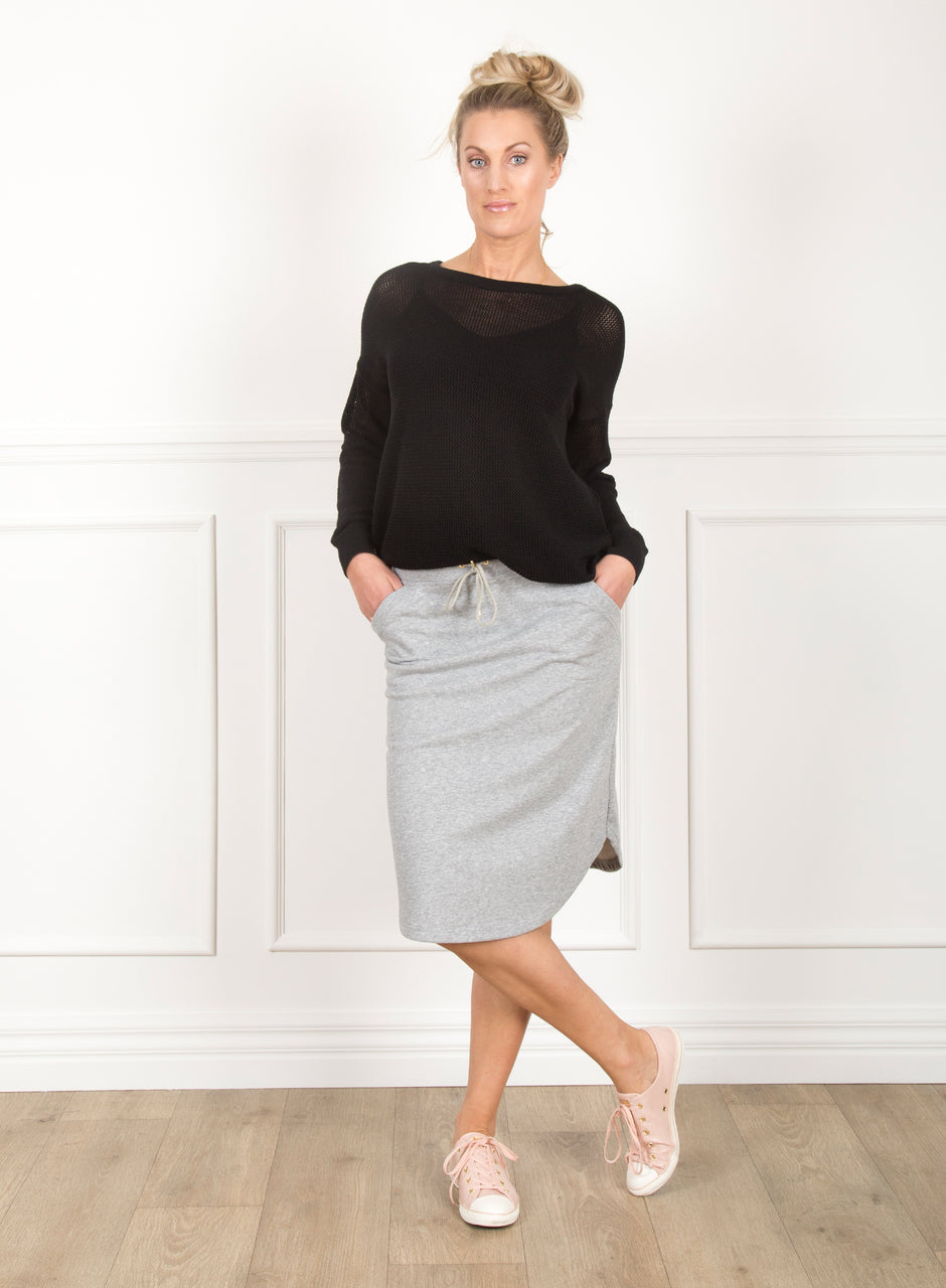 Rosie Skirt - Grey Marl