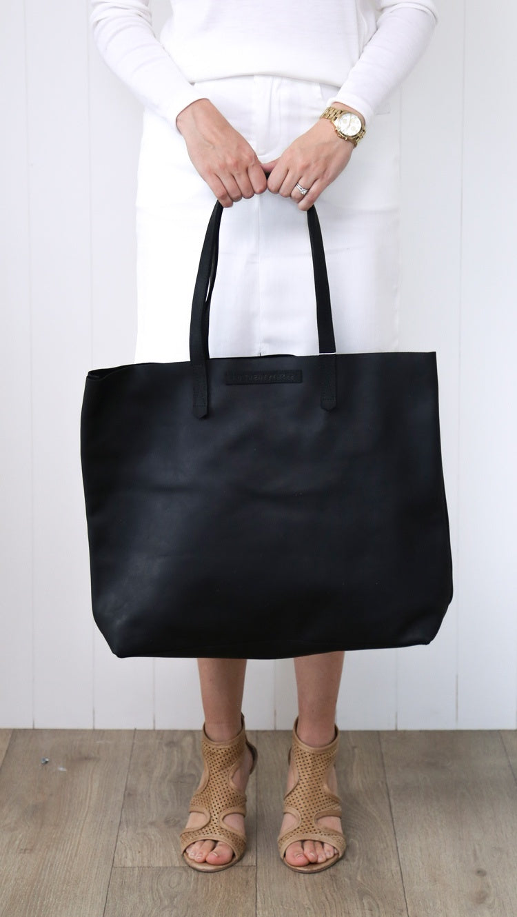 PW AB #23 Large Tote Bag - Black