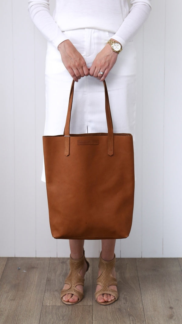 Amelia Boland #18 Leather Tote Bag - Tan