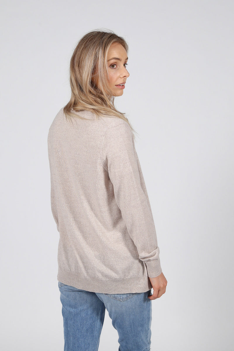 Ultrafine Merino Cardigan - Oatmeal