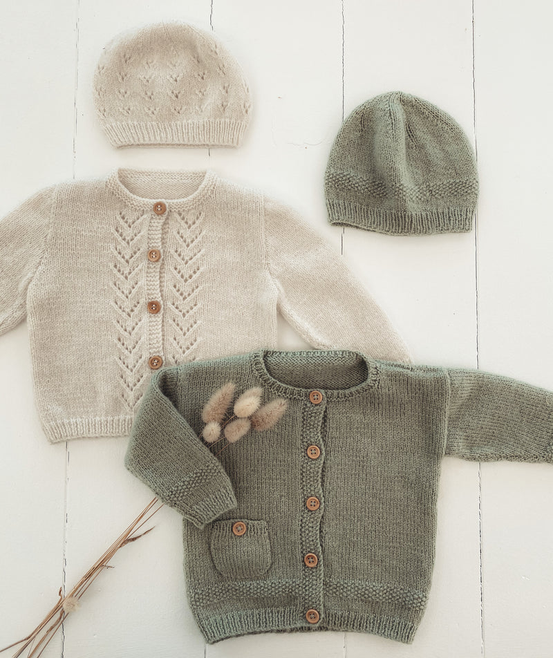 Barnaby Baby Cardigan and Hat 4ply Pattern